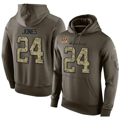 9dea6947 NFL Men's Nike Cincinnati Bengals #24 Adam Jones Stitched Green ...